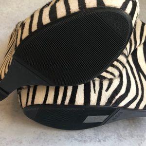 Aldo Shoes - Aldo Miggins Elevated Platform Booties in Zebra